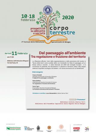Dal paesaggio all'ambiente. Tra regolazione e fruizione del territorio. @ Biblioteca G.F.Minguzzi - C.Gentili