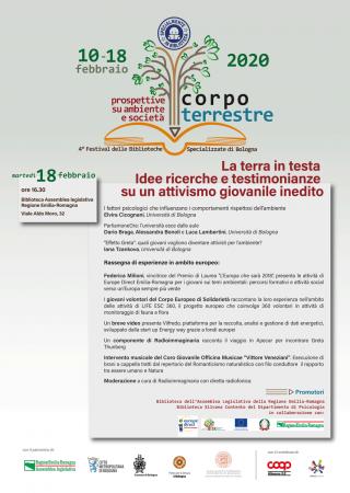 La terra in testa. Idee ricerche e testimonianze su un attivismo giovanile inedito. @ Biblioteca Assemblea legislativa Regione Emilia-Romagna